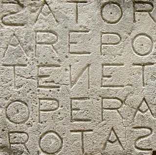 Sator Square A word square containing a five-word Latin palindrome