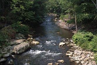 Savage River (Maryland) - Savage River, groundwater flow.
