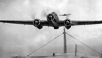 Savoia-Marchetti SM.79 - A head-on view of a SM.79