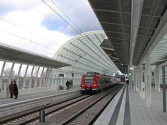 Rhine-Neckar S-Bahn - The Ludwigshafen-Mitte S-Bahn station