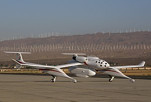 Scaled Composites White Knight - White Knight carrying a Northrop Grumman radar pod