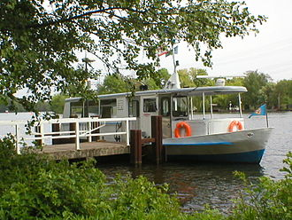 Ferry transport in Berlin - BVG ferry of the line F11