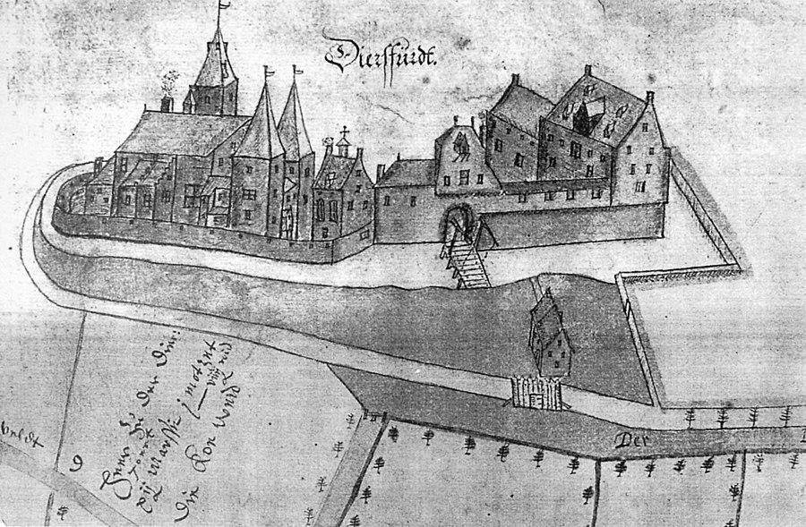 Schloss Diersfordt 1612 BW