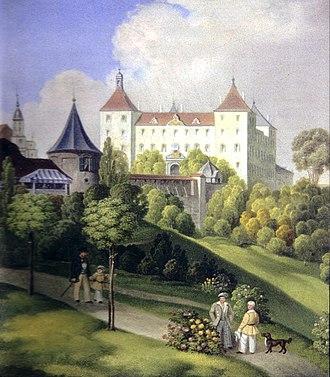 Joseph Fischer (cartographer) - Schloss Wolfegg (Castle Wolfegg), 1855