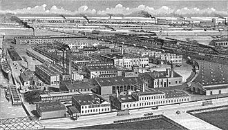 Jacob F. Schoellkopf Jr. - Schoellkopf, Hartford & Hanna Co. works in Buffalo, New York, formerly the Schoellkopf Aniline and Chemical Works, ca. 1908.