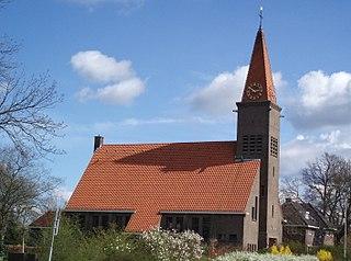 Schoonebeek town in Drenthe, the Netherlands