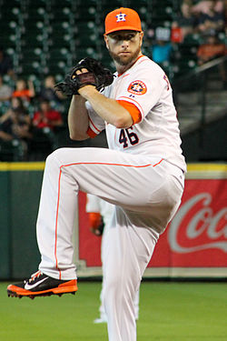 Scott Feldman at Minute Maid Park in August 2014.jpg