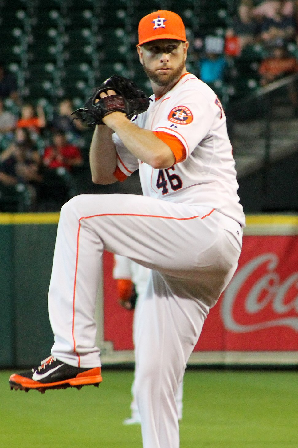Scott Feldman at Minute Maid Park in August 2014