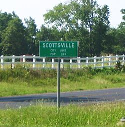 City Limit Sign at the intersection of US 80 and FM 2199.
