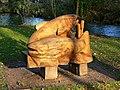 Sculpture next to the River Kennet, Marlborough - geograph.org.uk - 1068263.jpg