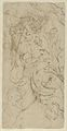 Seated Nude Male Figure (recto); Ornamental Designs of Foliage, a Grotesque Head, and a Leg (verso) MET DP842173.jpg