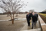 Secretary Mattis visits the Pentagon Memorial (32489274435).jpg