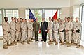 Secretary Pompeo Poses for a Photo With the Marine Security Detachment of U.S. Embassy Islamabad (30627724638).jpg