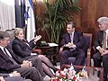 Secretary of State Madeleine Albright meets with Prime Minister Ehud Barak.jpg