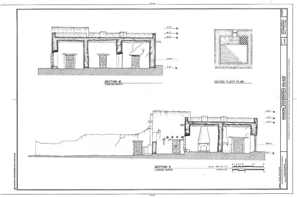 File Sections And Second Floor Plan Spanish Governor S
