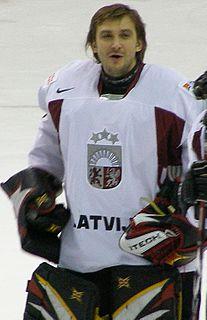 Sergejs Naumovs Latvian ice hockey player