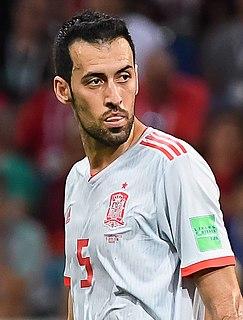 Sergio Busquets Spanish footballer