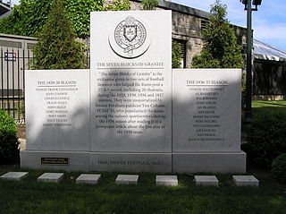 Seven Blocks of Granite nickname given to the Fordham University football teams offensive line