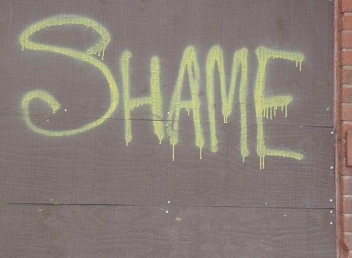 Shame grafitti
