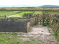 Sheep pens on Little Bumper Piece - geograph.org.uk - 181482.jpg