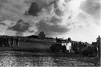 Magen, Israel - Sheikh Nuran following its occupation by the Israeli Army during Operation Assaf, December 1948