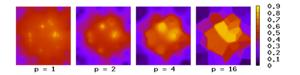 Inverse distance weighting - Image: Shepard interpolation 2