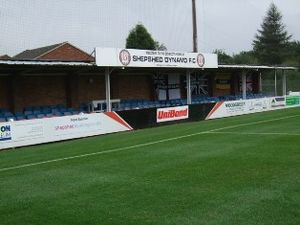 Shepshed Dynamo F.C. - A view of the Home Fans Stand
