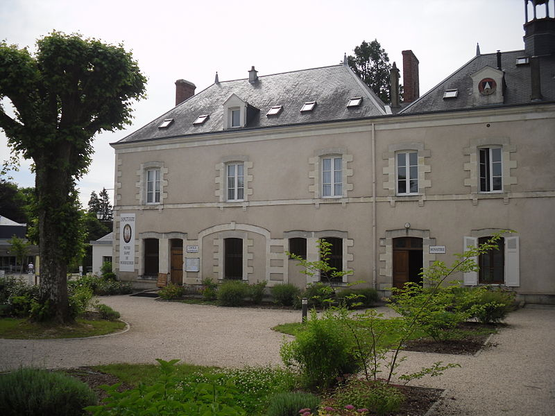 This is the house in Pellevoisin, France, where domestic servant, Estelle Faguette, claimed to have received visions of the Virgin Mary. It is now a monastery of the Community of St. John.