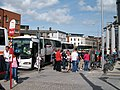 Shuttle buses from Drogheda carrying Enterprise passengers arriving outside Dublin Connolly Station - geograph.org.uk - 1455678.jpg