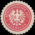 Siegelmarke Bürgermeister-Amt Dormagen W0384193.jpg