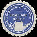 Siegelmarke Gemeinde Böhen K. Bayern W0352304.jpg