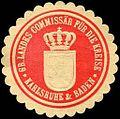 Siegelmarke Grossherzogliche Landes Commissär für die Kreise - Karlsruhe & Baden W0226567.jpg