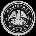 Siegelmarke Magistrat Weener W0246192.jpg