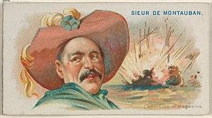 Etienne de Montauban - Image: Sieur de Montauban, Explosion of Magazine, from the Pirates of the Spanish Main series (N19) for Allen & Ginter Cigarettes MET DP835005