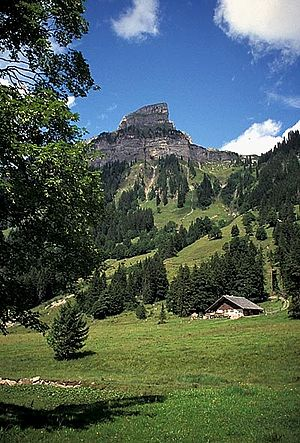 Helvetic (geology) - Sigriswiler Rothorn in the Emmental Alps