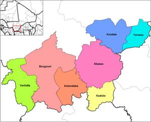 Sikasso Region - Cercles of the Sikasso Region
