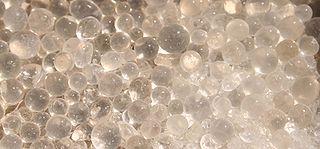 Silica gel granular, vitreous, porous form of silicon dioxide