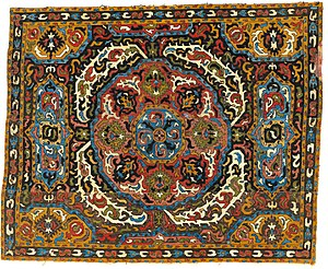 Textile Museum (Washington, D.C.) - Silk embroidery, greater Azerbaijan, 17th-18th century. In the collections of the Textile Museum.  To to be published in a new book,   Stars of the Caucasus,  at the International Symposium on Azerbaijani Carpets, Baku, 2017