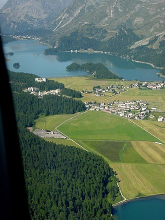 Sils im Engadin/Segl - Sils and Lake Sils