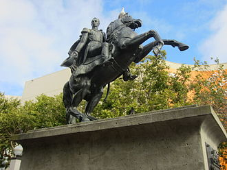 Simón Bolívar (Tadolini) - The statue in San Francisco in 2013