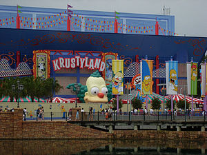 The Simpsons Ride - Construction on the attraction at the Florida location.
