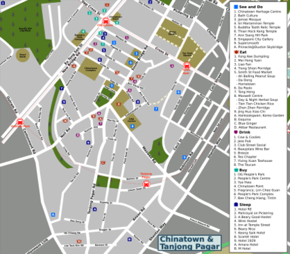Map of Singapore/Chinatown