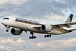 Singapore Airlines A350-900 (9V-SMK) landing at Melbourne Airport.jpg