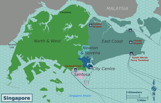 Map of Outer Singapore.