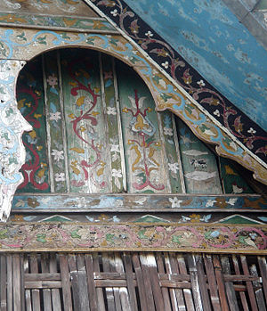 Rumah Gadang - The external walls of a rumah gadang are covered with motifs, each having a symbolic meaning