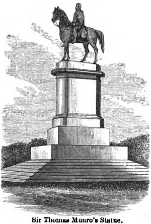 Sir Thomas Munro, 1st Baronet - Image: Sir. Thomas Munro's Statue, Madras (Mac Leod, p.124, 1871) Copy