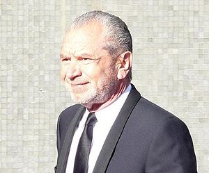 Sir Alan Sugar at the BAFTA awards 2009, mirro...
