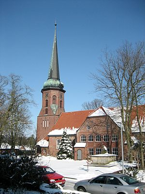 Sittensen - The St. Dionysius church of Sittensen on a winter day.