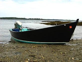 Skiff - Classic flat-bottom skiff in Maine.