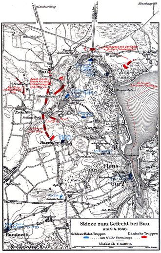 Battle of Bov - Map of the battle